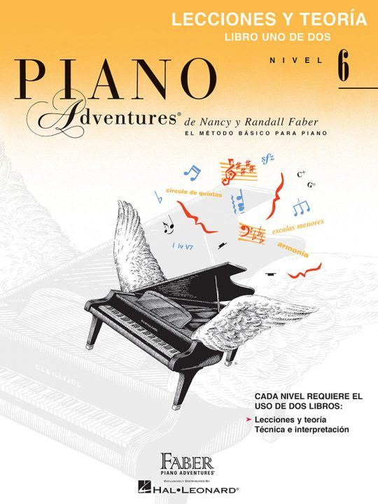 Piano Adventures® Libro de lecciones y teoría, Nivel 6