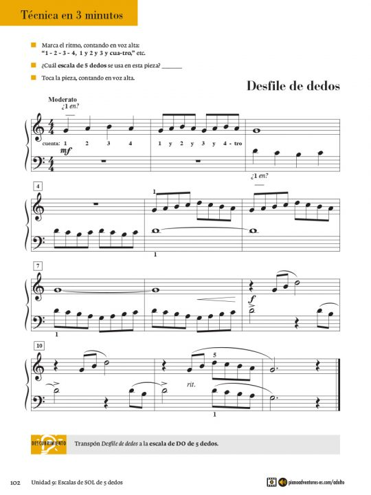 Adult Piano Adventures® Course Book 1 (Spanish)